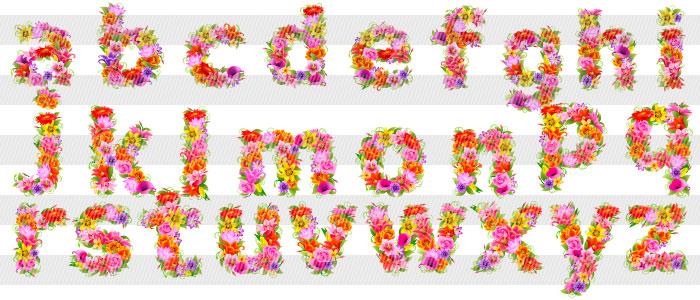 花柄のアルファベット 小文字 : 木の折り紙 : すべての折り紙