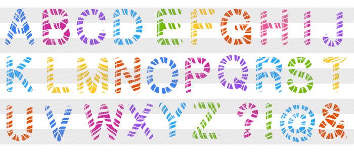 可愛いポップなローマ字 Illustratorのアルファベット